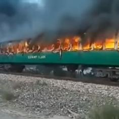 Watch: Three coaches of a train in Pakistan caught fire, killing over 70