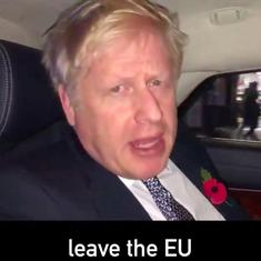Watch: Boris Johnson talks to the British electorate from his chauffeur-driven car