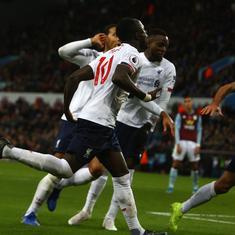 Premier League: Mane's last-gasp winner helps Liverpool beat Villa; Man City edge out Southampton