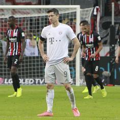 Bayern Munich suffer heaviest Bundesliga defeat in decade with 1-5 thrashing at Frankfurt
