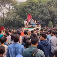 Watch: JNU students protest against hostel fee hike, curfew timings