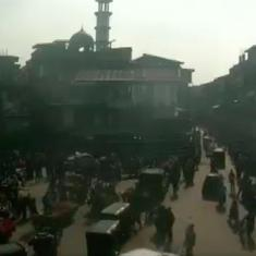 Caught on camera: The exact moment a grenade was detonated at Srinagar's Maulana Azad market