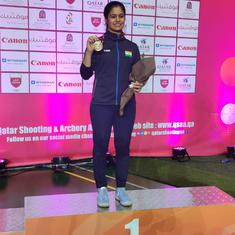 Manu Bhaker bags gold in 10m air pistol as India win fifth medal at Asian Shooting Championships
