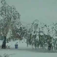 Watch: Early snow brings winter beauty to Himachal Pradesh and Jammu and Kashmir
