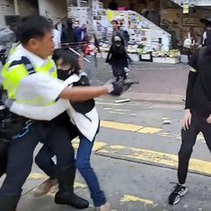Hong Kong: Policeman shoots protestor in torso amid clashes