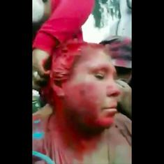 Horrifying: A Bolivian mayor was dragged through the streets and doused in paint amidst protests