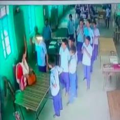Watch: Students attack female child welfare official in Raebareli in Uttar Pradesh