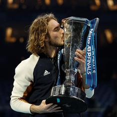 Stefanos Tsitsipas comes from set down against Dominic Thiem to lift ATP finals title