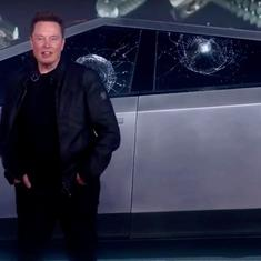Watch: Elon Musk's Tesla Cybertruck has unbreakable glass that broke at the launch