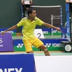 India International Challenge badminton: Dharmamer, Kashyap reach semis; Ajay, Agrey bow out