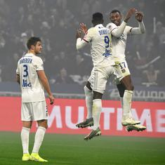 Ligue 1: Ten-man Lyon edge past Nice 2-1 to move to fifth place in points table