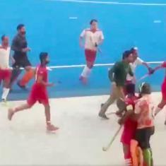 Watch: Fight breaks out on the field during Nehru Cup hockey match, three players hospitalised