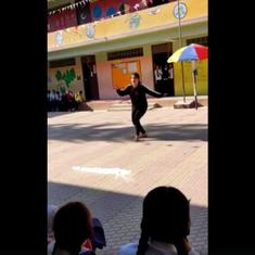 Watch this Sikkim teacher's lively dance to 'Malhari' from Bajirao Mastani