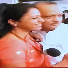 सुप्रिया सुले ने गले लगकर अजित पवार का स्वागत किया