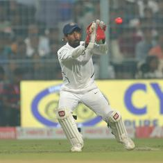 Fielding under lights during day-night Test was challenging: Saha weighs in on visibility debate