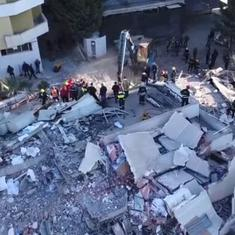 Watch: Scenes of destruction from Albania, which has been hit by its 'worst earthquake in decades'