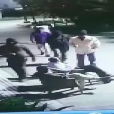 Caught on camera: A robbery and hostage situation at gunpoint in Indore, Madhya Pradesh
