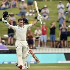 Second Test: Latham's century on rain-hit opening day puts New Zealand in command against England