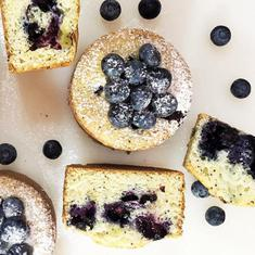 Blueberry, Lemon And Poppy Muffin