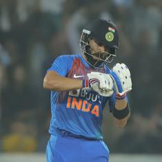 First T20I: Virat Kohli's career-best takes India home in high-scoring opener against West Indies