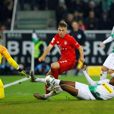Bundesliga: Reigning champs Bayern Munich fall to seventh position after defeat at leaders Gladbach
