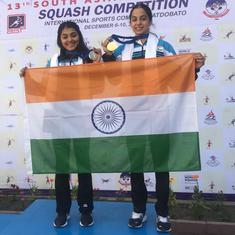 Squash: Tanvi-Sunayna secure 1-2 finish for  India at South Asian Games, Harinder bags silver