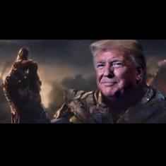Watch: Is Trump Marvel movies' villain Thanos? The US President's team seems to think so