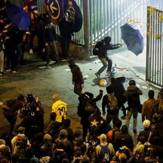 Barcelona, Real Madrid play out a tame draw amidst clashes that injured dozens outside Camp Nou