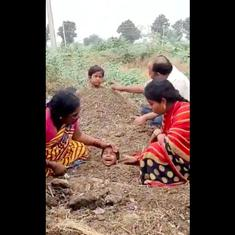 Watch: Three children were buried in cowdung during a solar eclipse in a bizarre bid to 'cure' them