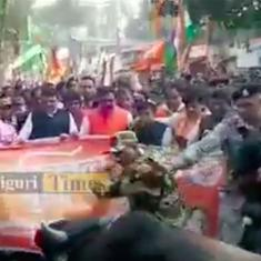 Watch: A bull decided to interrupt a BJP rally in Siliguri, West Bengal