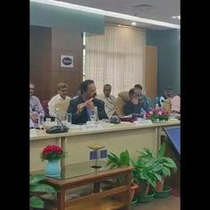 Watch: Senior ISRO official ends last meeting of the year with enchanting flute performance