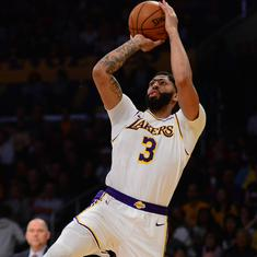 NBA wrap: Anthony Davis stars in Lakers win over Mavericks, Thunder stun defending champions Raptors
