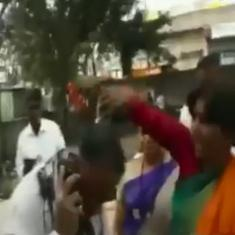 Caught on camera: Shiv Sena worker throws ink on man who criticised Uddhav Thackeray on social media