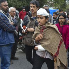 Delhi Police filed cases against injured JNU Students Union leader while mob attack was underway