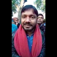 'Entire country stands with you': Kanhaiya Kumar tells JNU students outside HRD Ministry in Delhi