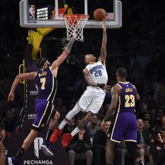 NBA: Markelle Fultz stars as Magic end Lakers' win streak; Heat, 76ers continue winning run at home
