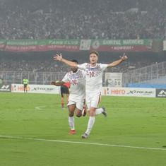 I-League: Mohun Bagan stave off late East Bengal rally to claim victory in thrilling Kolkata derby