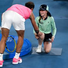 Watch: Rafa Nadal wins hearts after sweet gesture to ball girl who got hit on the face at Aus Open
