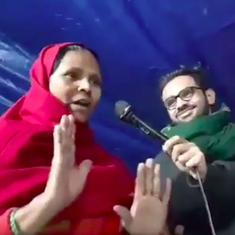 Watch: At the Mustafabad protest in Delhi, a woman's message for the media and the BJP's Samit Patra