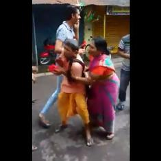Watch: A priest in Kolkata was dragged and pulled to get him to perform Saraswati Puja rituals