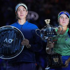Watch: Garbine Muguruza says she is 'smiling inside' after heartbreak in the Australian Open final