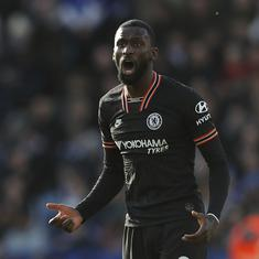 Premier League: Rudiger's twin strikes salvage 2-2 draw for Chelsea against Leicester