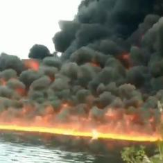 Watch: Here's why the Burhi river in Assam has been on fire for three days