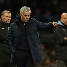 Watch: An epic Jose Mourinho moment during Tottenham-Manchester City match in the Premier League