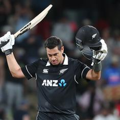 First ODI: Ross Taylor's century outshines Shreyas Iyer's as New Zealand chase down 348