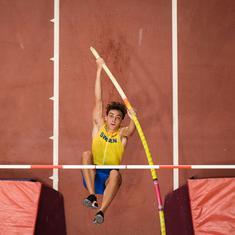 Athletics: Pole vaulter Armand Duplantis attempts another world record jump, falls short