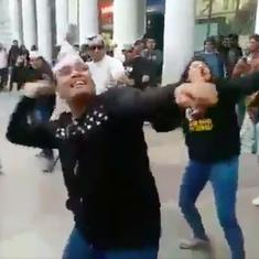 Watch: Aam Aadmi Party flash mob dances in Connaught Place to celebrate Delhi assembly election win