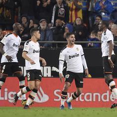 La Liga: Kondogbia's second half strike helps Valencia hold Atletico Madrid to a 2-2 draw
