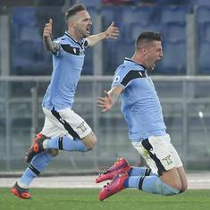 Serie A: Lazio shock Inter Milan to claim second spot, Juventus stay on top with win against Brescia