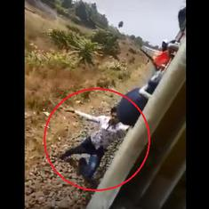 Watch: TikTok video captures man falling off a moving train
